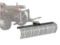 "Kolpin DirtWorks ATV 60"" Landscape Rake with 2 Boxes Steel Black"