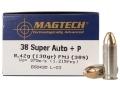 Magtech Sport Ammunition 38 Super +P 130 Grain Full Metal Jacket