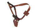 "Galco Great Alaskan Shoulder Holster System Right Hand Colt Python, Cobra, Ruger GP100, Redhawk, Smith and Wesson L and N Frame, 686, 629 4"" Barrel Leather Tan"