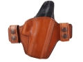 Bianchi Allusion Series 125 Consent Outside the Waistband Holster Right Hand Glock 19, 23, 32 Leather Tan