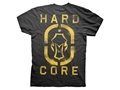 Hard Core Men's Spray Paint Dog Tag T-Shirt Short Sleeve Cotton Black