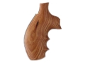 Hogue Fancy Hardwood Grips with Finger Grooves Taurus Medium and Large Frame Revolvers Round Butt Tulipwood