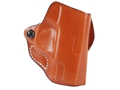 Product detail of DeSantis Mini Scabbard Outside the Waistband Holster Right Hand Smith & Wesson M&P Shield Leather Tan