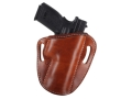 "El Paso Saddlery #88 Street Combat Outside the Waistband Holster Right Hand Springfield XD 9/40 Tactical 5"" Leather Russet Brown"