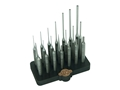 Grace USA 21-Piece Steel Punch Set with Bench Block