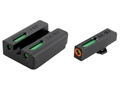 TRUGLO TFX Pro Sight Set Taurus Millennium G2, 709 Slim, 740 Slim  Tritium / Fiber Optic Green with Orange Front Dot Outline