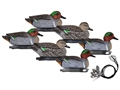 Hard Core Pre-Rigged Green Wing Duck Decoy Pack of 6