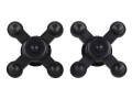 Bowjax Limb Jax Bow Vibration Dampener Rubber Black Pack of 2