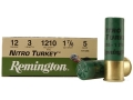 Remington Nitro Turkey Ammunition 12 Gauge 3&quot; 1-7/8 oz of #5 Buffered Shot Box of 10