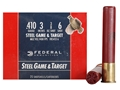 Federal Game &amp; Target Ammunition 410 Bore 3&quot; 3/8 oz #6 Non-Toxic Steel Shot Box of 25