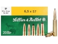 Sellier & Bellot Ammunition 6.5x57mm Mauser 131 Grain Soft Point Box of 20