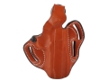 DeSantis Thumb Break Scabbard Belt Holster Right Hand 1911 Commander Leather Tan