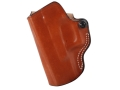 DeSantis Mini Scabbard Outside the Waistband Holster Left Hand Glock 19, 23, 32 Leather Tan
