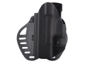 Hogue PowerSpeed Concealed Carry Holster Outside the Waistband (OWB) Left Hand Glock 19, 23, 32, 39  Polymer Black