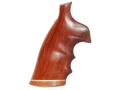 Hogue Fancy Hardwood Conversion Grips with Accent Stripe, Finger Grooves and Contrasting Butt Cap S&W N-Frame Round to Square Butt