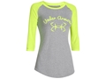 Under Armour Women's Fish Hook Baseball 3/4 Sleeve T-Shirt Charged Cotton