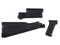 Product detail of Arsenal, Inc. Complete Buttstock and Handguard Set Warsaw Pact Length AK-47, AK-74 Stamped Receivers Polymer Black