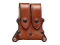 Hunter 5901 Pro-Hide Double Magazine Pouch with Flaps for 5100 Shoulder Harness Right Hand Single-Stack Magazine Leather Brown