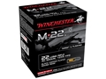 Product detail of Winchester M-22 Ammunition 22 Long Rifle 40 Grain Black Plated Lead Round Nose