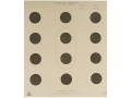 NRA Official Smallbore Rifle Target A-36 50' 3 Postion Paper Package of 100