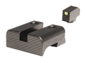 BattleHook Sight Set Glock 17, 19, 22, 23, 24, 26, 27, 33, 34, 35, 37, 38, 39 Fiber Optic Front Steel Black