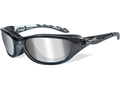 Wiley X AirRage Polarized Sunglasses Silver Flash Lens
