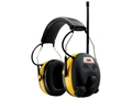 Peltor Worktunes AM/FM Radio Electronic Earmuffs (NRR 22dB) Black
