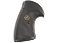 Pachmayr Presentation Grips S&amp;W N-Frame Round Butt Rubber Black