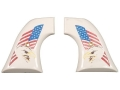Hogue Grips Colt Single Action Army Ivory Polymer Eagle with Flag Pattern