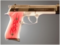 Product detail of Hogue Extreme Series Grip Beretta 92F, 92FS, 92SB, 96, M9 Tribal Aluminum Red