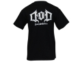 Drury Outdoors Men's DOD Logo T-Shirt Short Sleeve Cotton Black Medium