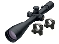 Leupold Mark 4 Long Range Tactical M1 Rifle Scope 30mm Tube 8.5-25x 50mm Side Focus TMR Reticle Matte with 30mm Mark 4 Picatinny-Style Rings Matte High