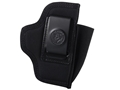 DeSantis Pro Stealth Inside the Waistband Holster Ambidextrous Beretta Nano, Ruger LC9, Sig P290, Kahr PM40, PM9 Nylon Black