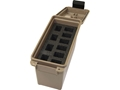 MTM Tactical Mag Can Plastic Dark Earth Holds 10 Double Stacked Handgun Magazines