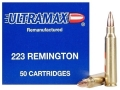 Ultramax Remanufactured Ammunition 223 Remington 55 Grain Full Metal Jacket Box of 50