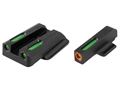 TRUGLO TFX Pro Sight Set Ruger LC9, LC9s, LC380 Tritium / Fiber Optic Green with Orange Front Dot Outline