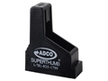 Product detail of ADCO Super Thumb Magazine Loader Single Stack 9mm Luger, 38 Super, 45 ACP Polymer Black
