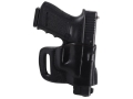 Product detail of El Paso Saddlery Combat Express Belt Slide Holster Right Hand Glock 17, 19, 26, 22, 23, 27, 31, 32, 33 Leather Black
