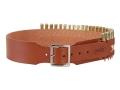 Hunter Cartridge Belt 2-1/2&quot; 375 H&amp;H Magnum Base Cartridges 25 Loops Leather Brown XL