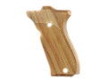 Hogue Fancy Hardwood Grips S&W 39, 52, 439, 539 and 639 Checkered Tulipwood