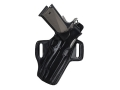 Product detail of Galco Fletch Belt Holster Right Hand Ruger P85, P89, P90, P94 Leather Black