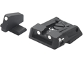 LPA SPS Adjustable Sight Set S&W M&P Steel White Dot