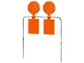 """Do-All Impact Seal Self Healing Money Shot Dual 8-3/4"""" Spinning Target Ballistic Polymer Orange"""