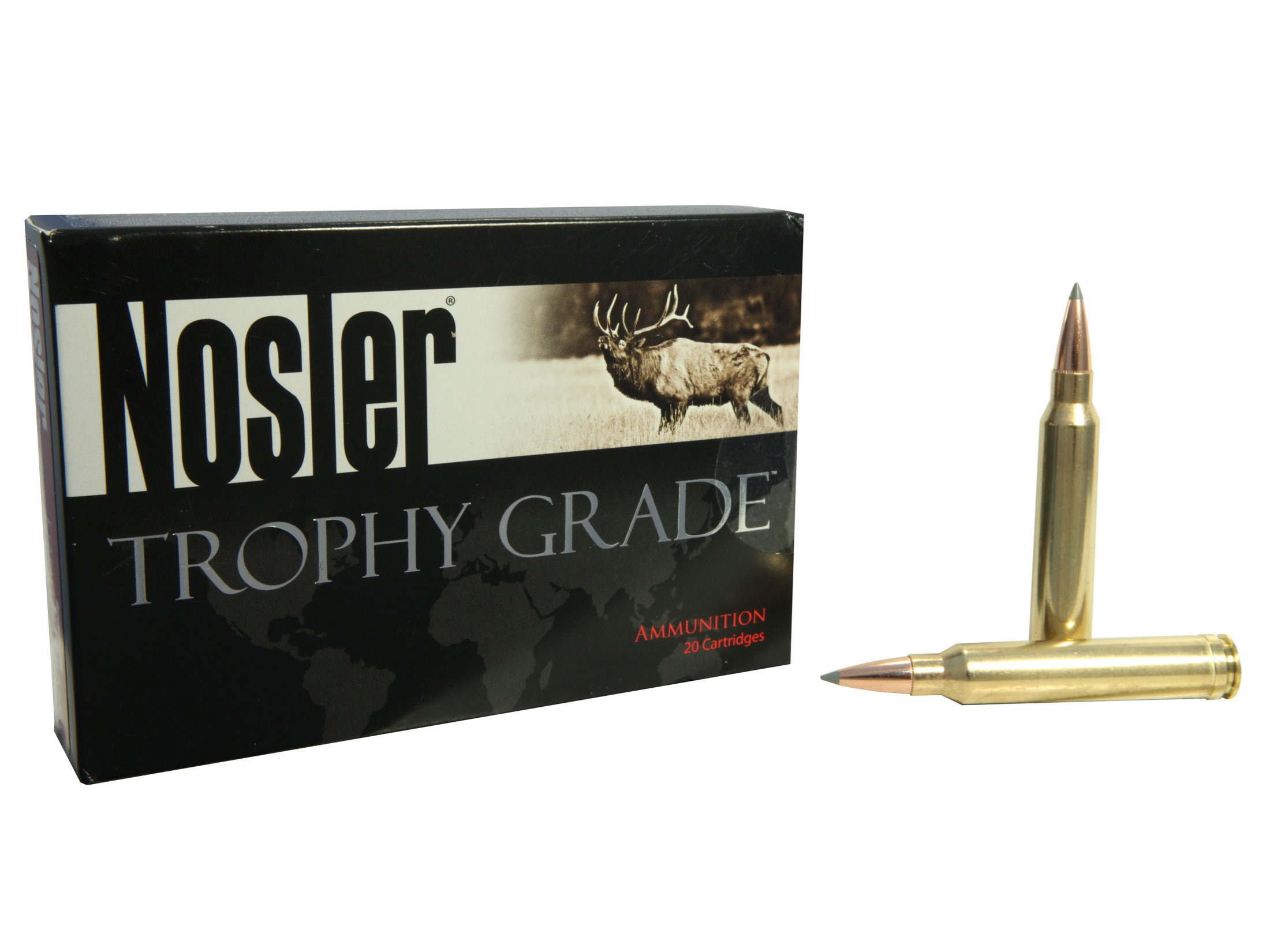 Trophy Grade 300 Winchester Magnum 190 Grain AccuBond Long Range Ammunition, 20 Rounds Per Box