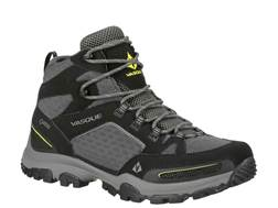 "Vasque Inhaler GTX 5"" Waterproof Uninsulated Hiking Boots Leather/Mesh Black and Primrose Yellow Men's"