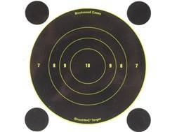 "Birchwood Casey Shoot-N-C Targets 6"" Bullseye Package of 12 with 48 Pasters"