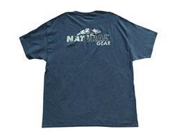 Natural Gear Men's Logo T-Shirt Short Sleve Cotton Charcoal