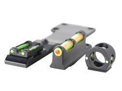 TRUGLO Tru-Bead Turkey Sight Set Universal Fits Shotgun with Vent Rib Fiber Optic Dual Color Red/Green Standard Front, Interchangeable Green Ghost Ring & Notched Rear