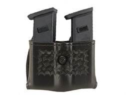 "Safariland 079 Double Magazine Pouch 2-1/4"" Snap-On Beretta 92, 96, Browning BDM, HK P7M13, Ruger P Series, Sig Sauer P226, P228, S&W 59, 459, 659 Polymer Basketweave Black"