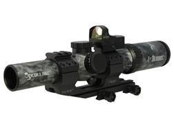 Burris SKULLTAC Rifle Scope 30mm Tube 1-4x 24mm Illuminated Ballistic CQ Reticle with Fastfire III Red Dot and P.E.P.R. Mount Ghost Camo